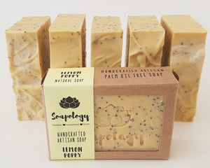 Lemon Poppy Artisan soap bar