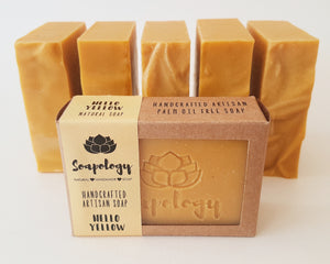 Hello Yellow Artisan soap bar