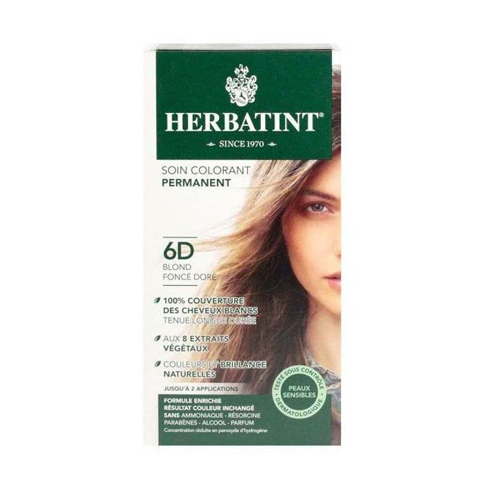 Herbatint 6D Blonde Dark Golden Hair Dye 150ml