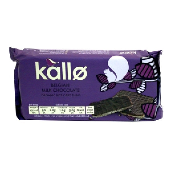 KALLO BELGIAN MILK CHOCO RICE CAKE-90G