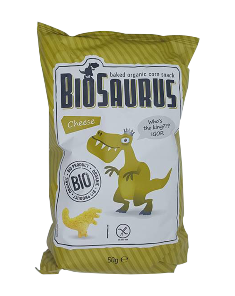 Biosaurus Organic Baked Corn Snack with Cheese (50g)
