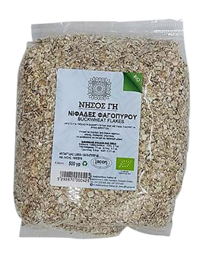 Nisos Gi Organic Flakes of Buckwheat  (500g)
