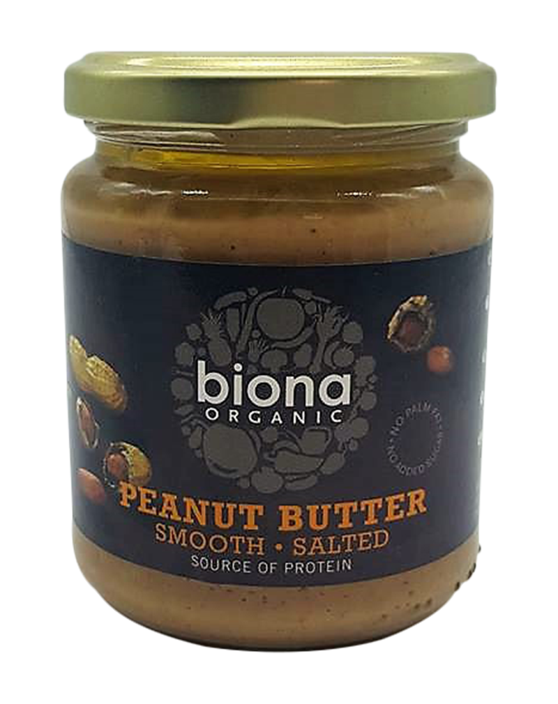 Biona Organic Peanut Butter Smooth/Salted (250g)
