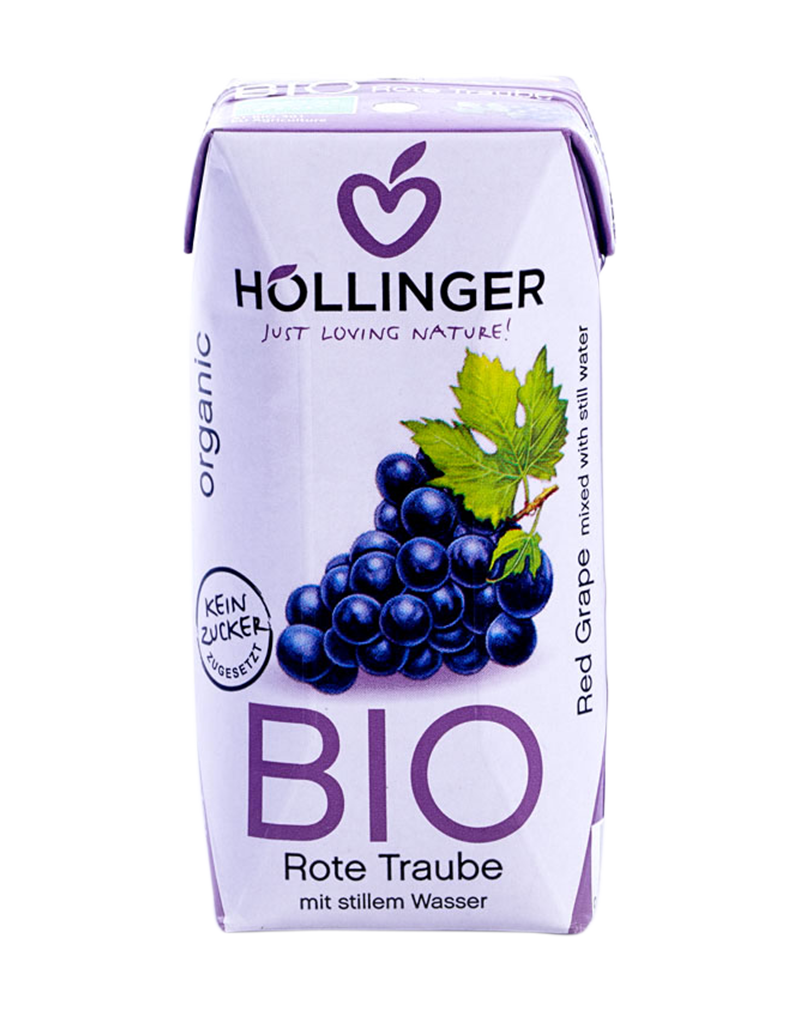 Hollinger Organic Red Grape  Juice 200ml