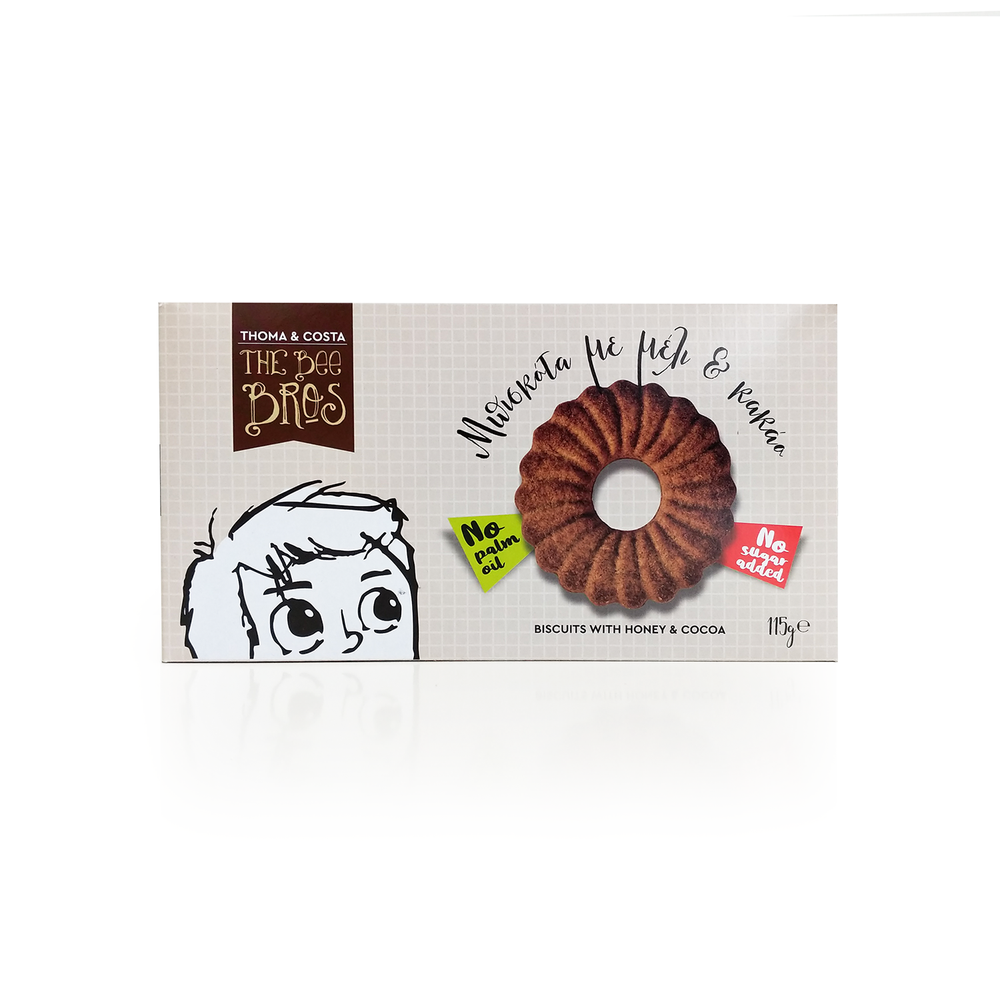 The Bee Bros Biscuits with Honey and Cocoa 115gr