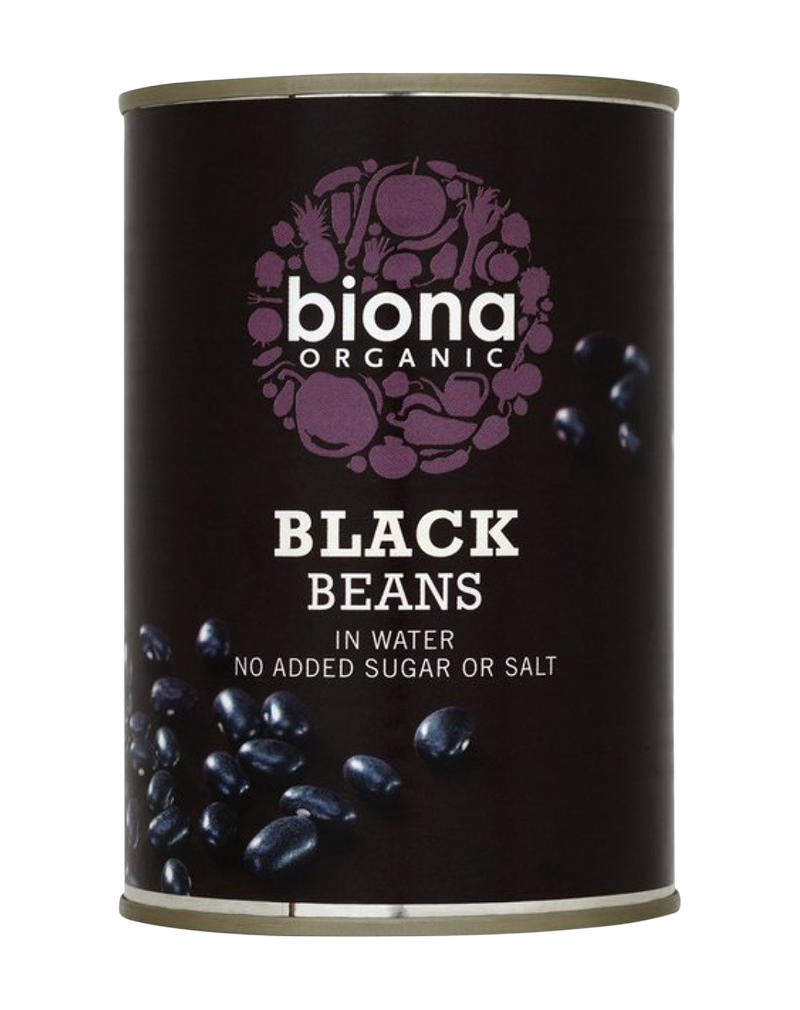Biona Organic Canned Beans Black (400g)