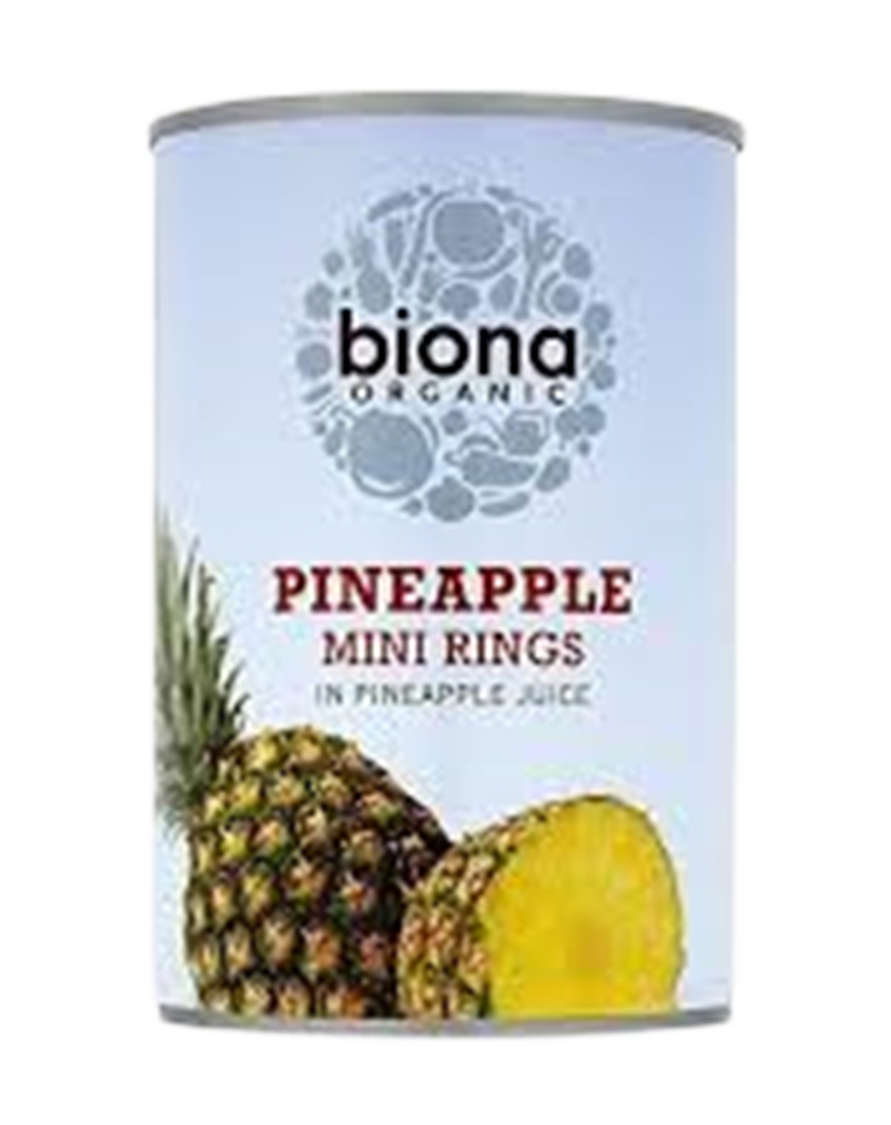 Biona Organic Canned Fruit - Pineapple Pieces in Juice (400g)
