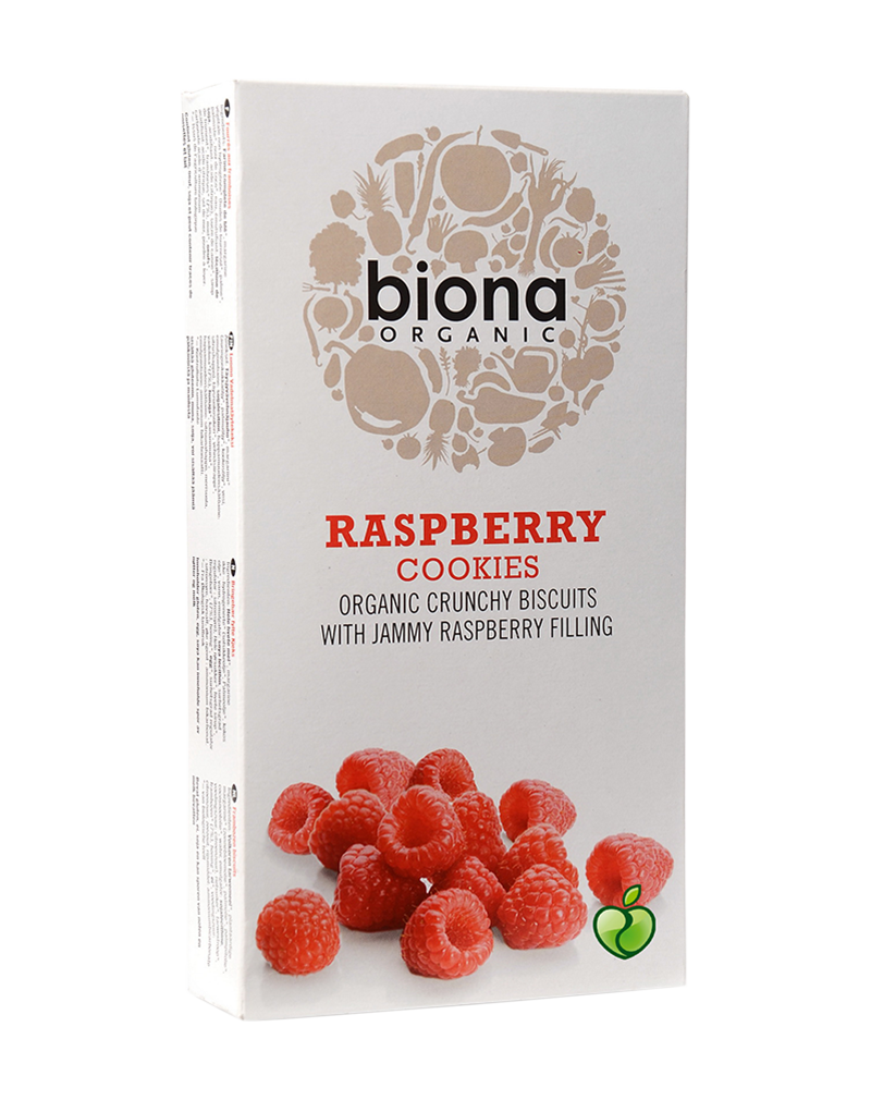 Biona Organic Cookies Raspberry Filled (175g)