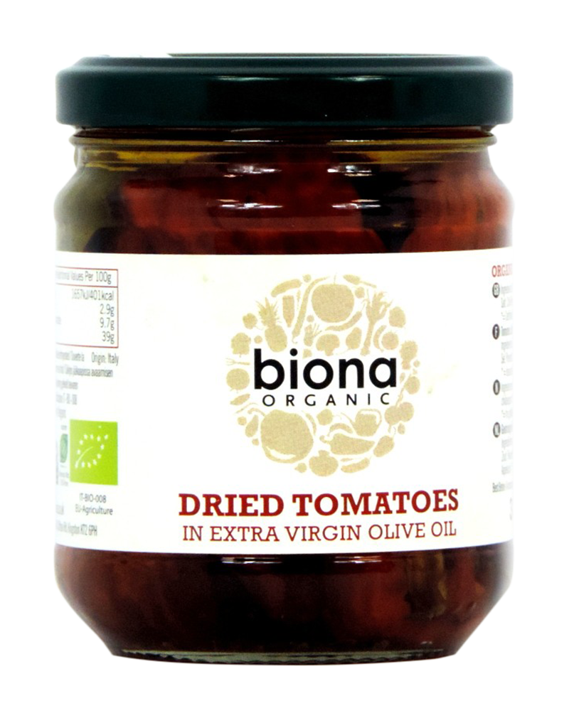 Biona Organic Dried Tomatoes in Extra Virgin Olive Oil (170g)