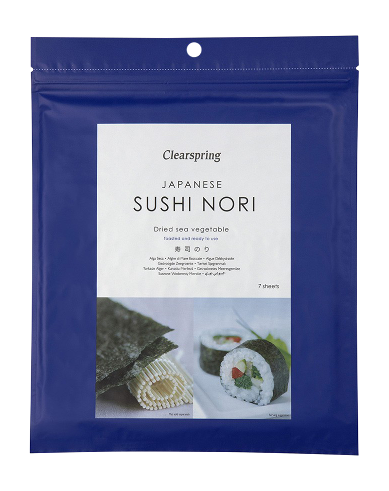Clearspring Japanese Sushi Nori Dried Sea Vegetable (Toasted) (17g)