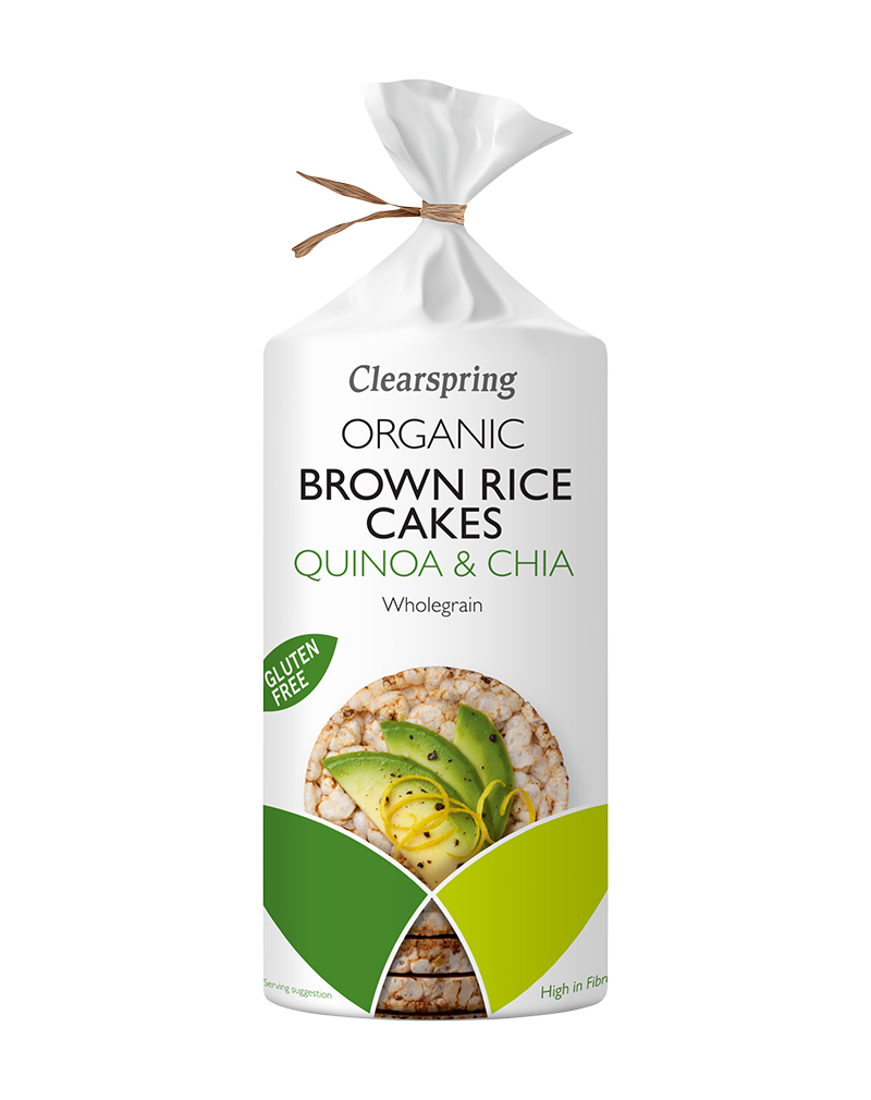 Clearspring Organic Brown Rice Cakes - Quinoa & Chia (120g)