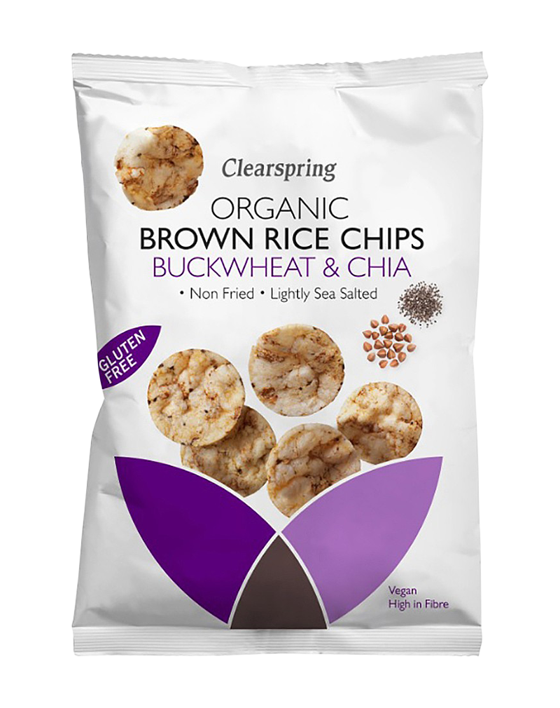 Clearspring Organic Brown Rice Chips Buckwheat & Chia (60g)