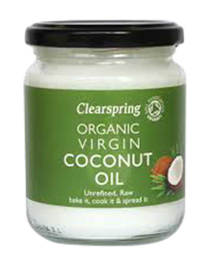 Clearspring Organic Coconut Oil Unrefined & Raw (200ml)