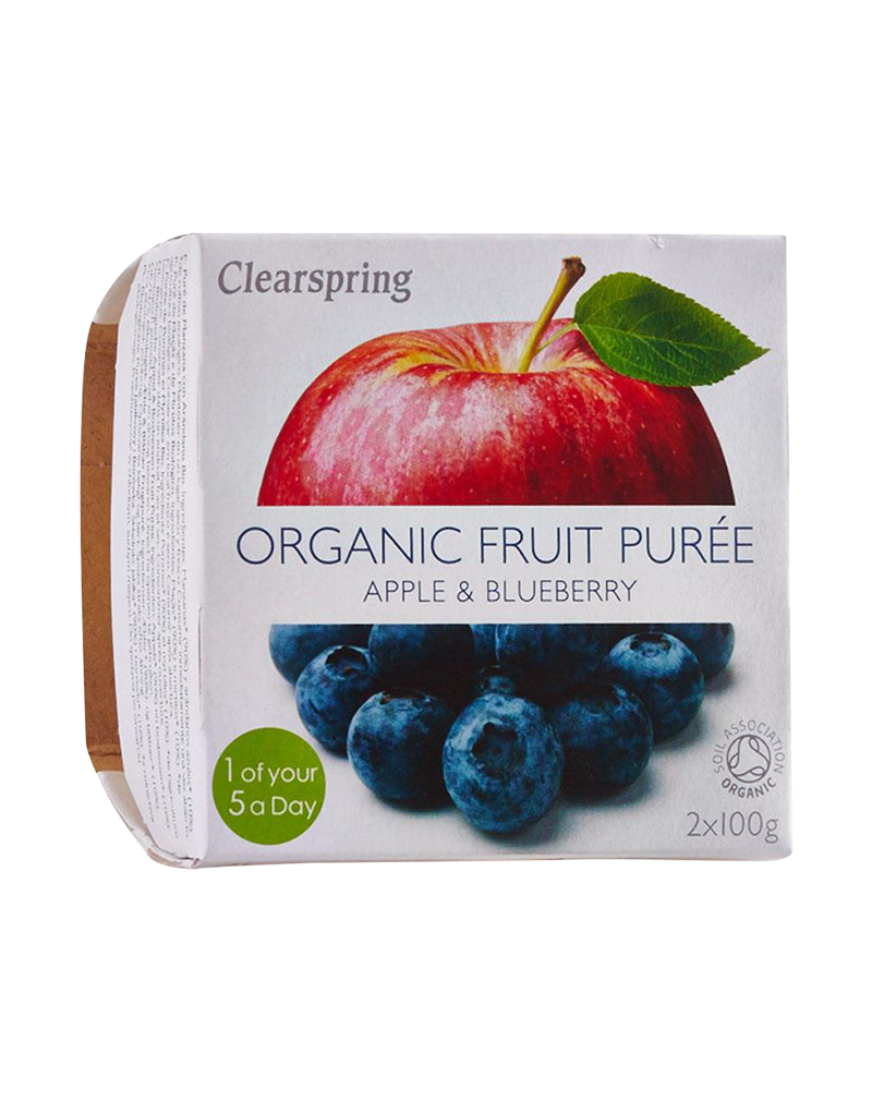 Clearspring Organic Fruit Purée - Apple & Blueberry (200g)