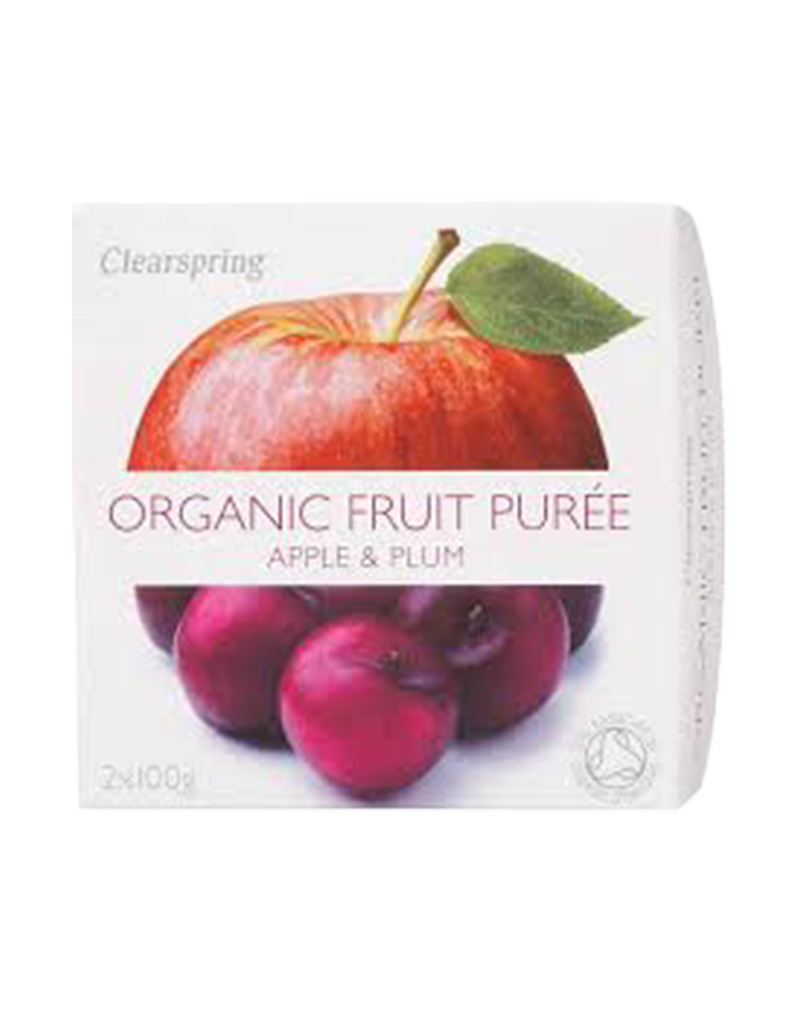 Clearspring Organic Fruit Purée - Apple & Plum (2 x 100g)
