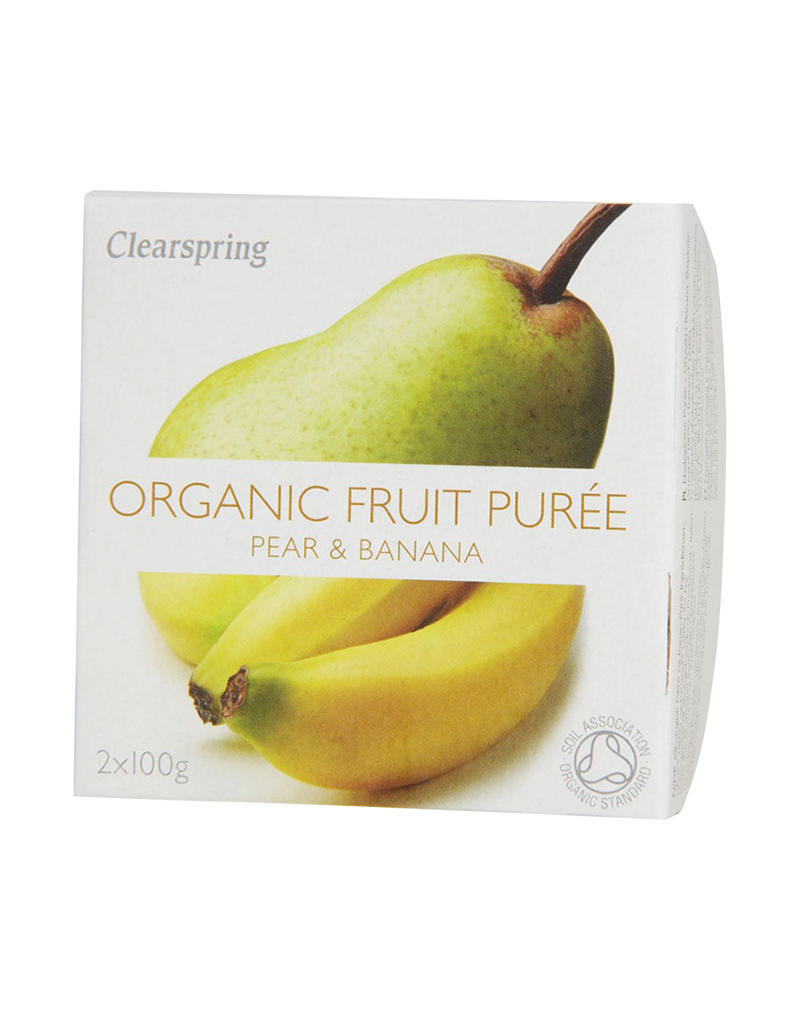 Clearspring Organic Fruit Purée - Pear & Banana (2 x 100g)
