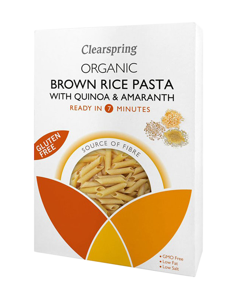 Clearspring Organic Gluten Free Brown Rice Pasta with Quinoa & Amaranth - Penne (250g)