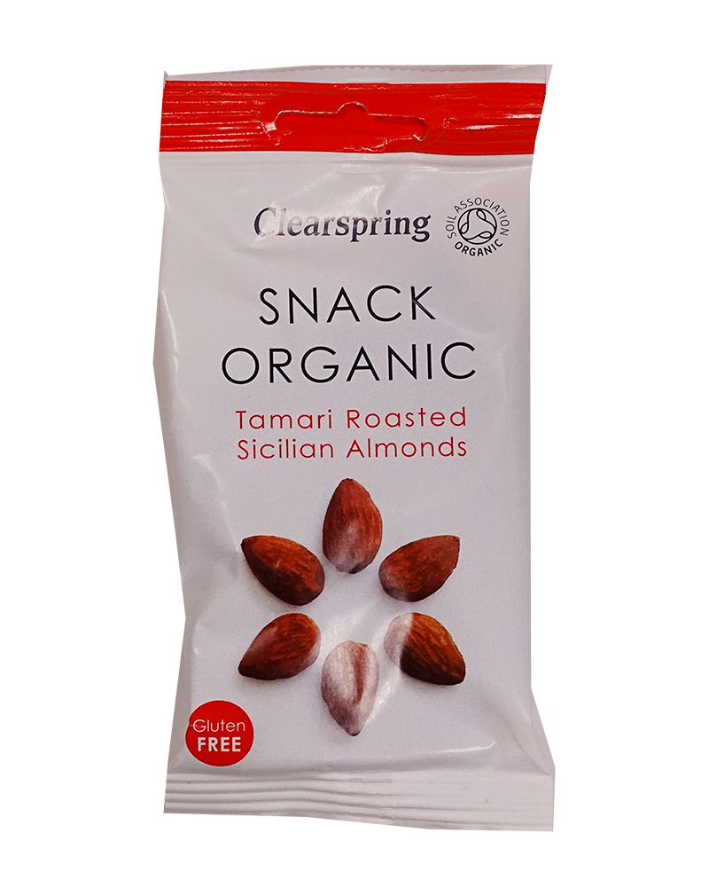 Clearspring Snack Organic Tamari Roasted Sicilian Almonds (30g)