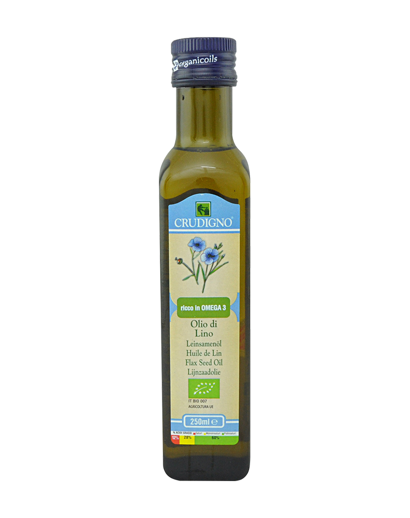 Crudigno Organic Flax Seed Oil (250ml)