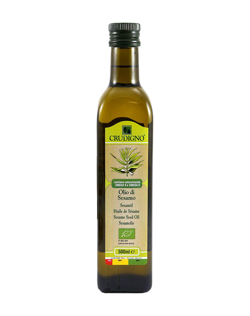 Crudigno Organic Sesame Seed Oil (500ml)
