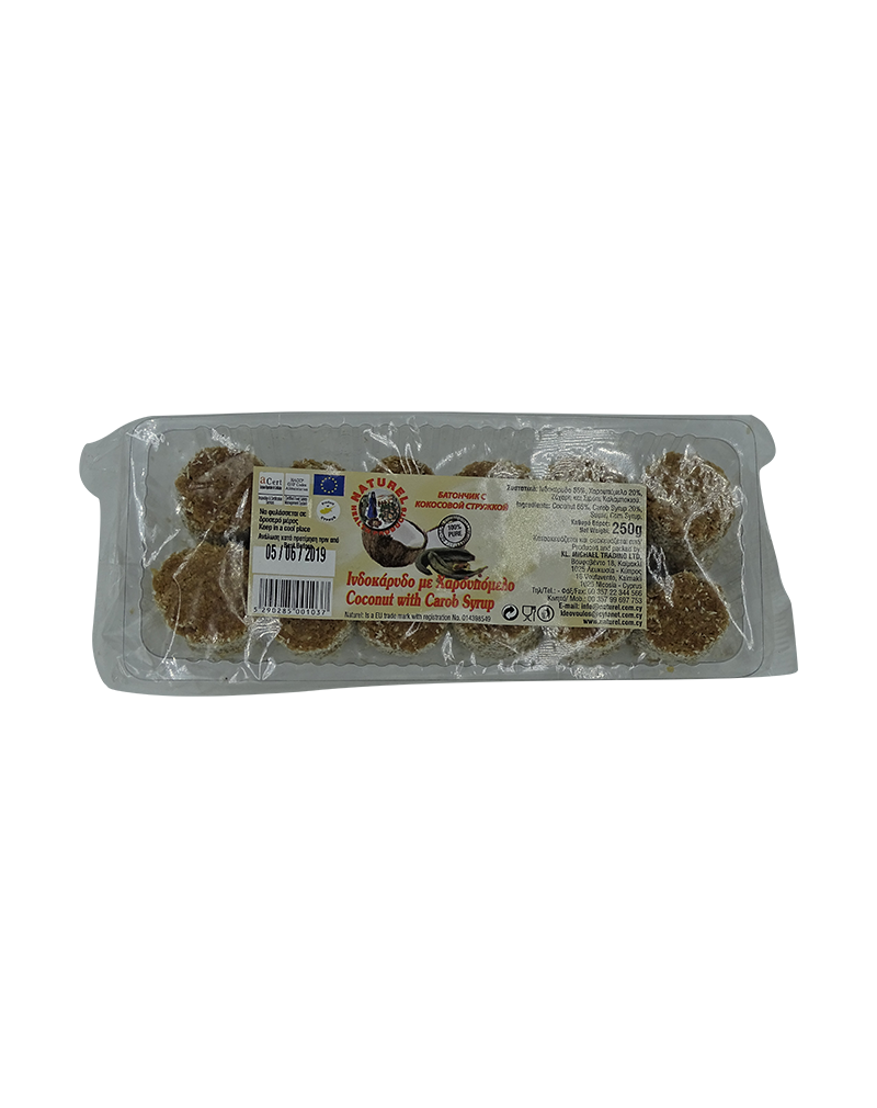 Naturel Coconut with Carob Syrup (250g)
