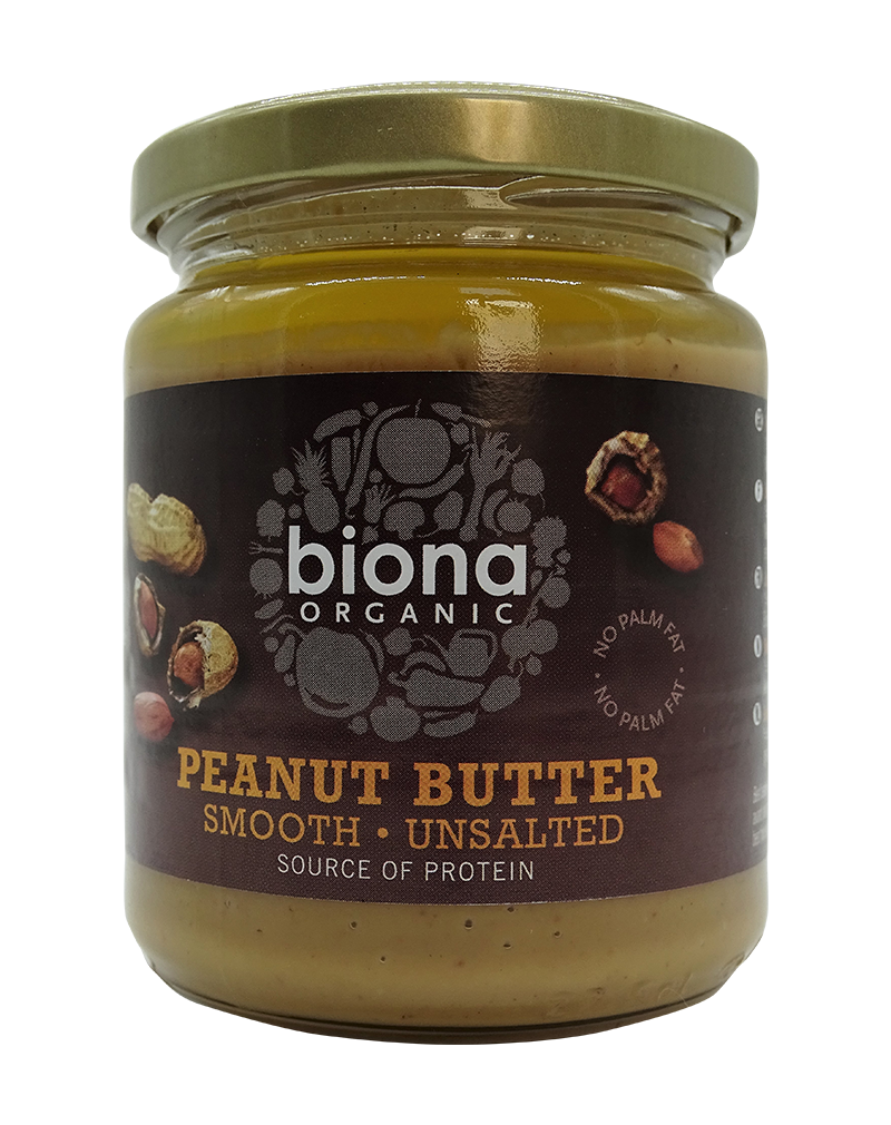 Biona Organic Nut Butter Peanut Smooth/Unsalted (250g)