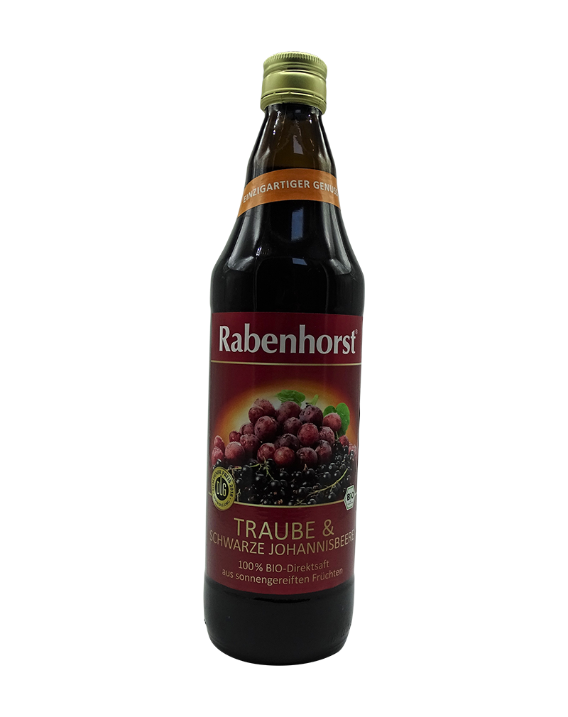 Rabenhorst Organic Red Grape and Blueberry Juice (750ml)