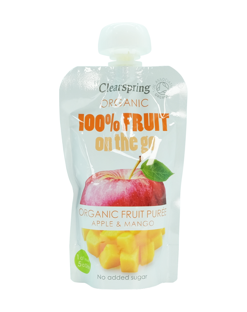 Clearspring Organic Fruit Purée - Apple & Mango 2x100g
