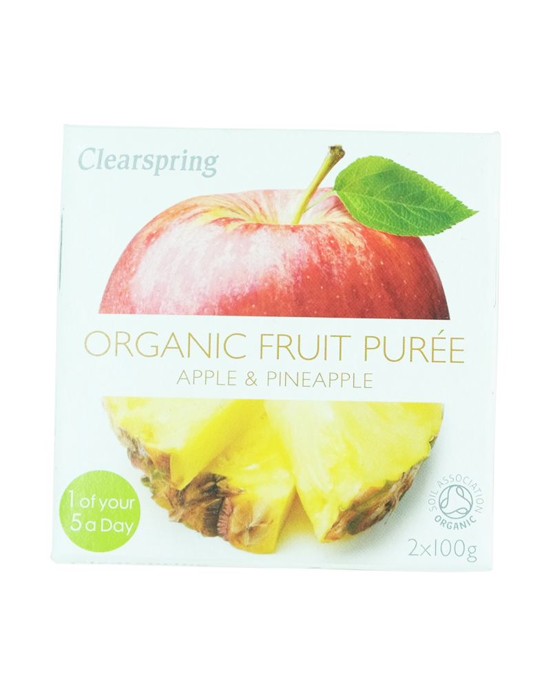 Clearspring Organic Fruit Purée - Apple & Pineapple 2x100g