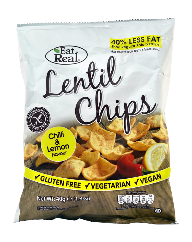 EAT REAL Lentil  Chili & Lemon  (40g)