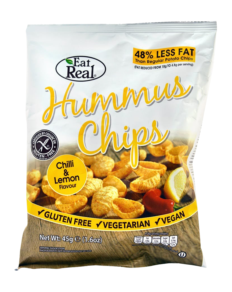 Eat Real Hummus Chili Lemon Chips (45g)