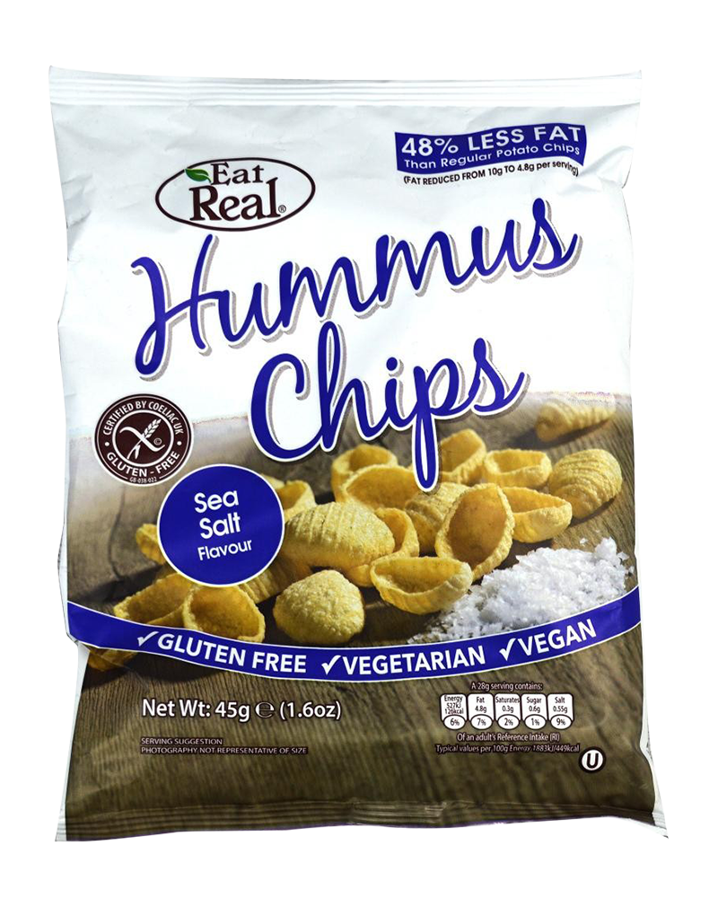 Eat Real Hummus Chips Sea Salt (45g)