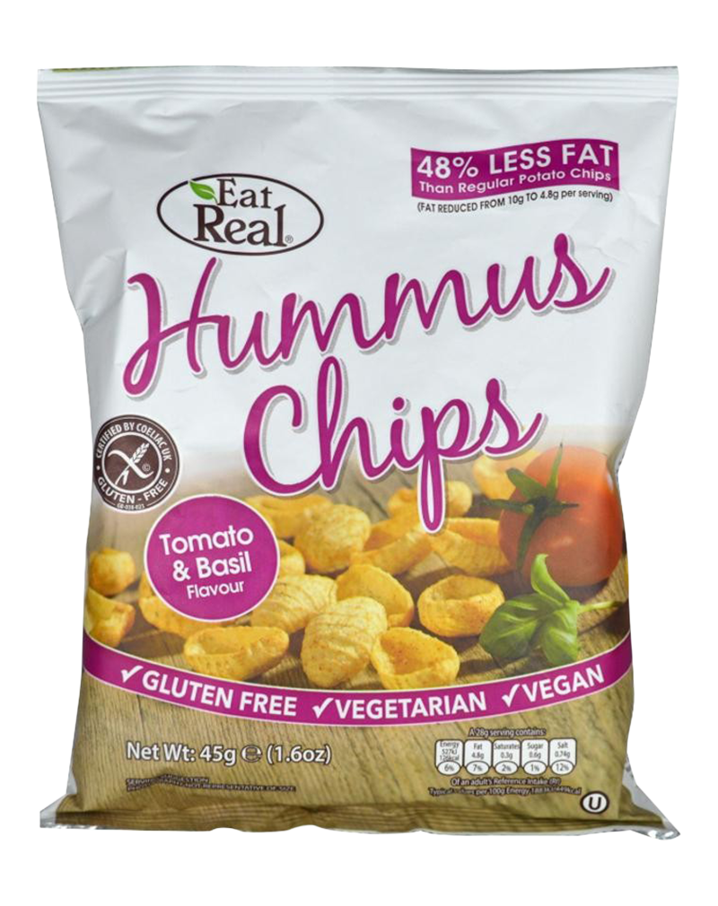 Eat Real Hummus Chips Tomato & Basil (45g)