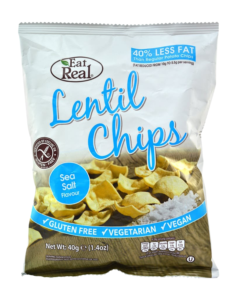Eat Real Lentil Chips Sea Salt (40g)