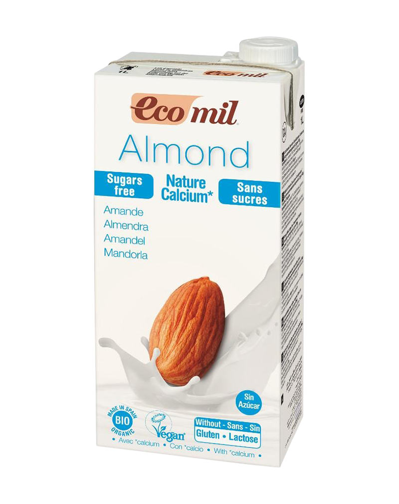 Ecomil Organic Almond Milk Sugar-Free With Calcium (1000ml)