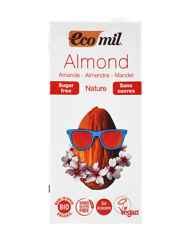 Ecomil Organic Almond Milk Sugar-Free (1000ml)