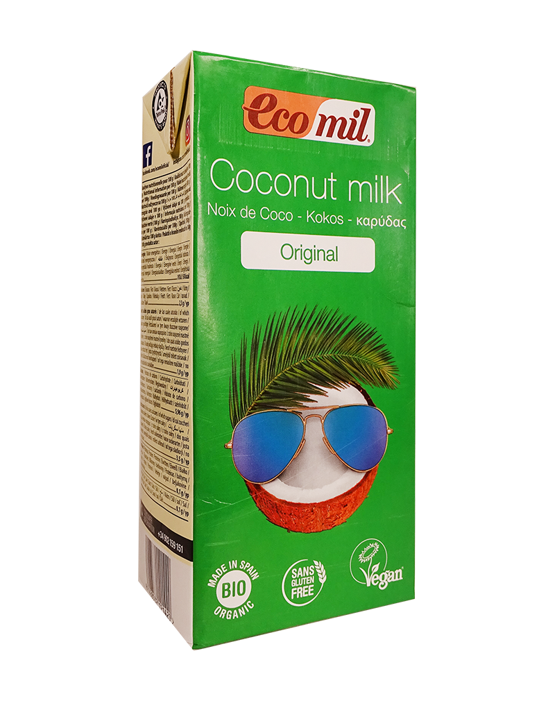 Ecomil Organic Coconut Milk  Original with Agave Syrup (1L)