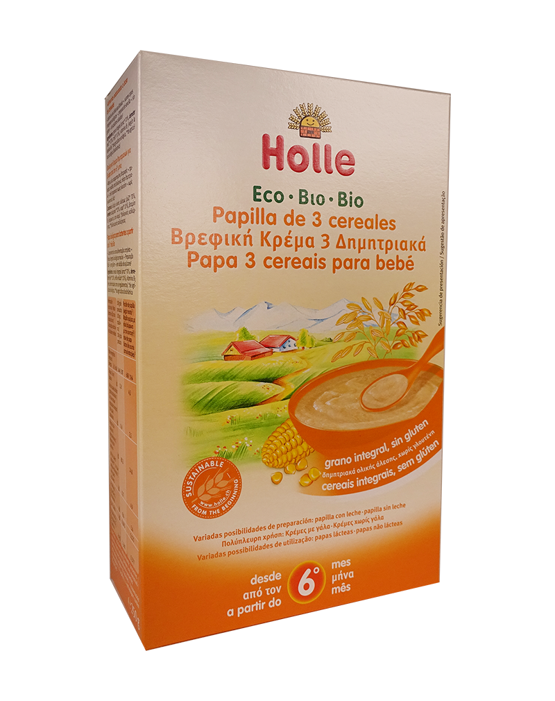 Holle Organic 6+ Months 3 Grain Porridge (250g)