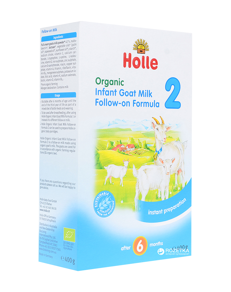 Holle Organic Infant Goat's Milk Formula 2- After the 6 month (400g)