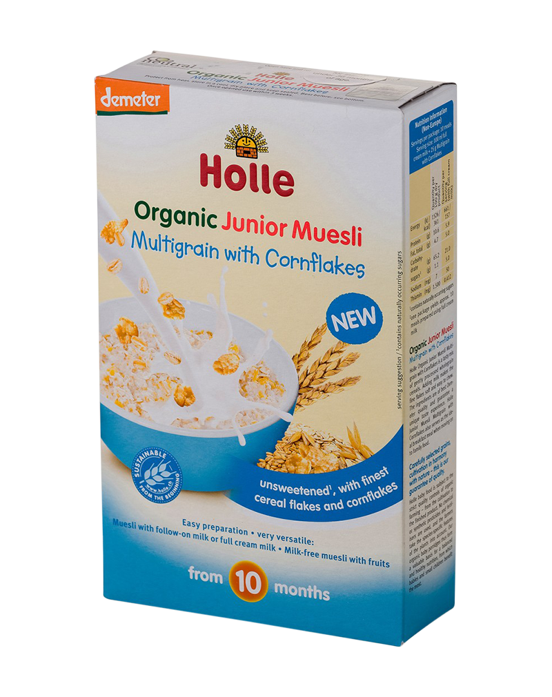 Holle Organic Junior Muesli Multigrain with Cornflakes (250g) From 10 months