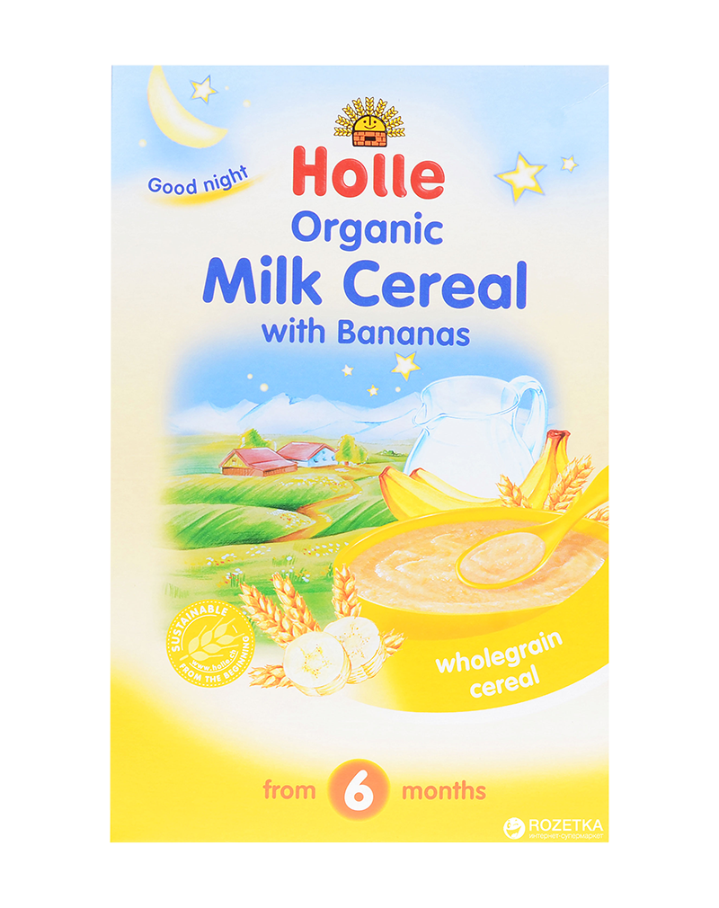 Holle Organic Milk Cereal with Bananas from 6 months (250g)
