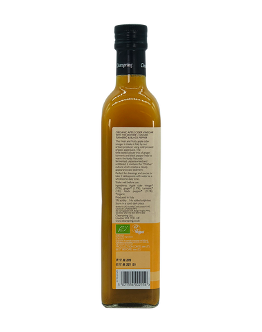 Organic Apple Cider Vinegar with the Mother - Ginger, Turmeric & Black Pepper - 500ml