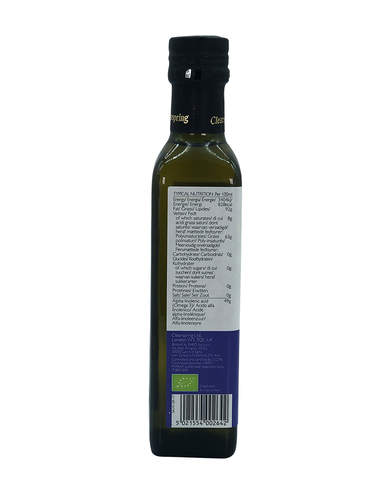 Clearspring Organic Flax Oil  (250ml)