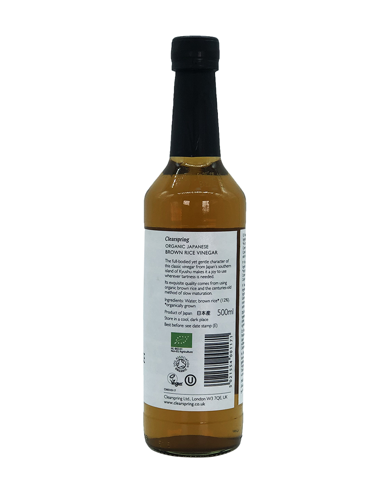 Clearspring Organic Japanese Brown Rice Vinegar 500ml