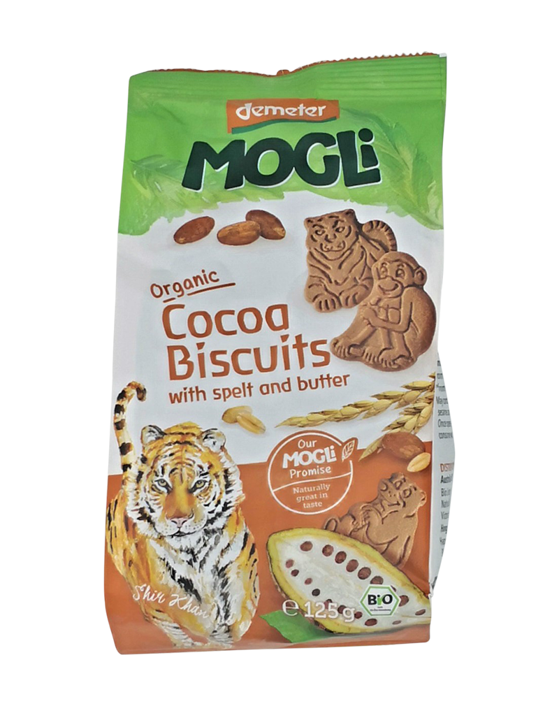 Mogli Organic Cocoa Biscuit with Spelt and Butter (125g)