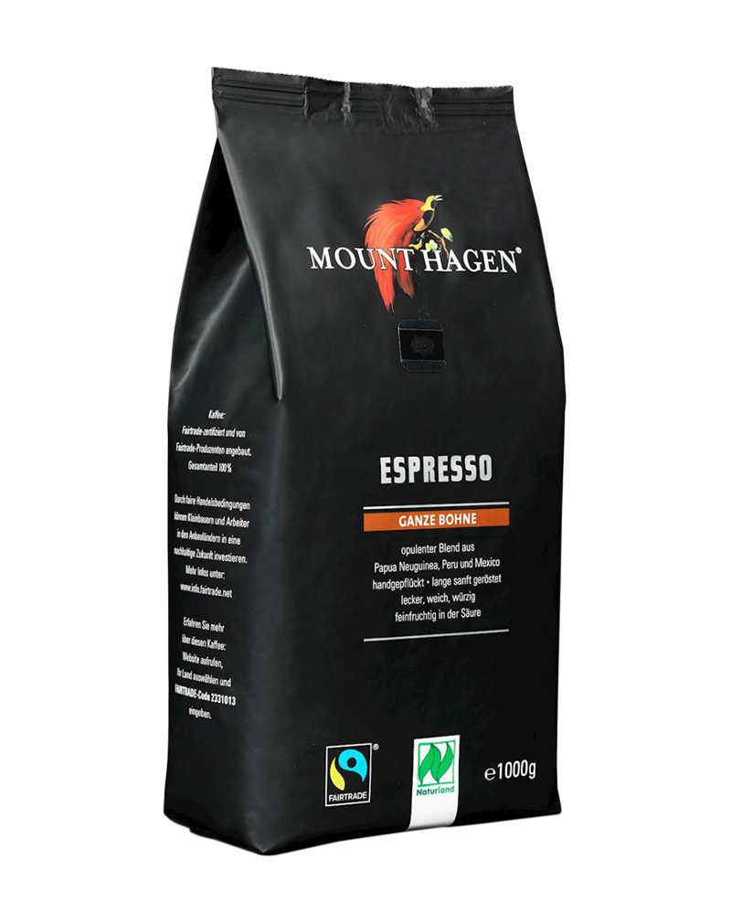 Mount Hagen Organic Fairtrade Espresso Coffee (1kg)
