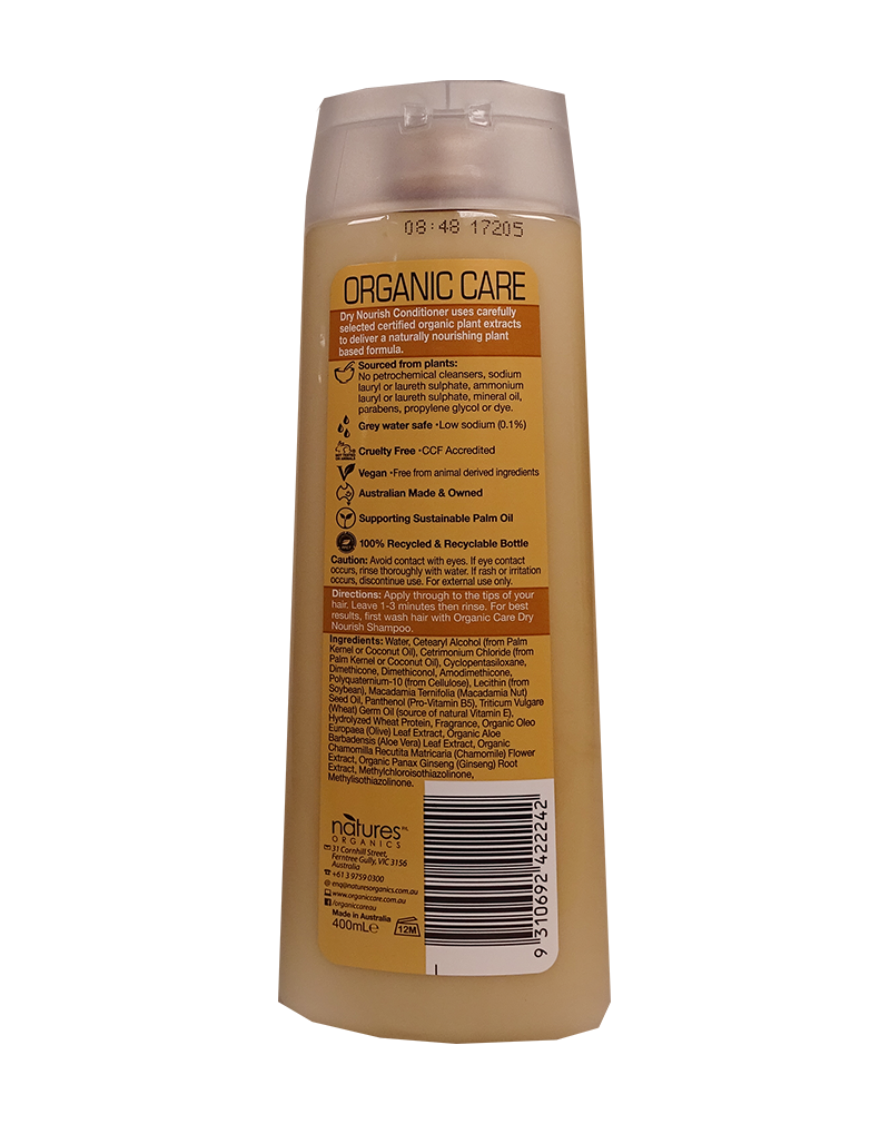 Natures Organics Care Dry Nourish Conditioner (400ml)