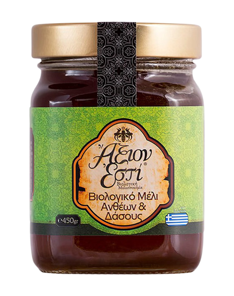 Axion Esti Organic Honey Flowers & Forest Trees (450gr)