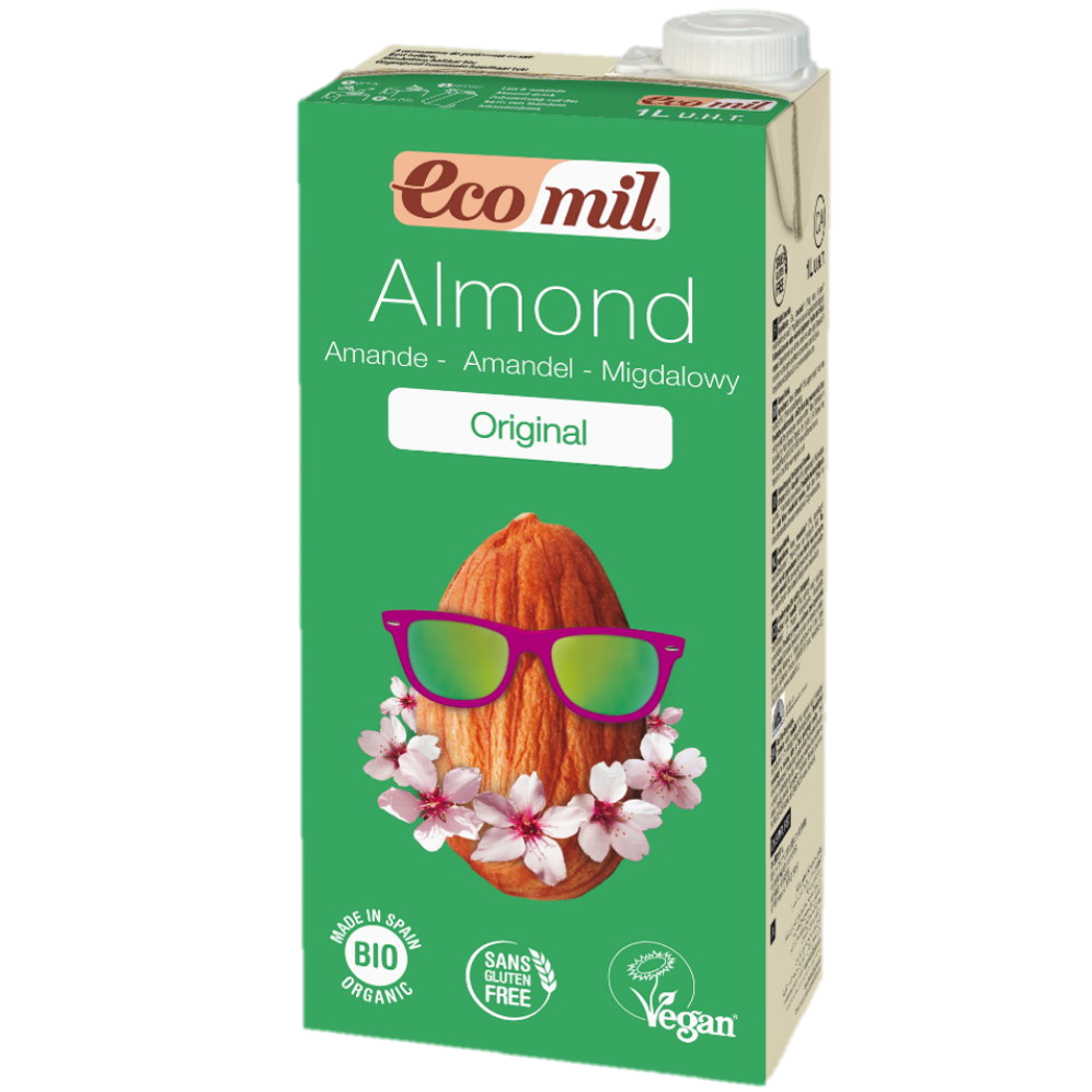 Ecomil Organic Almond Original Milk With Agave Original (1L)
