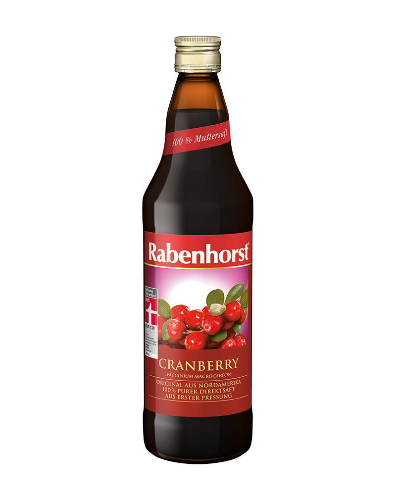 Rabenhorst Organic Cranberry Juice - 100% Pure Juice (750ml)